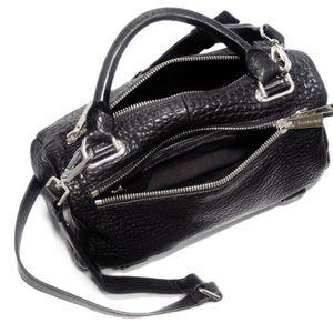 GOLDENLANE Bags - GU GoldenLane Authenticated Black Leather Satchel